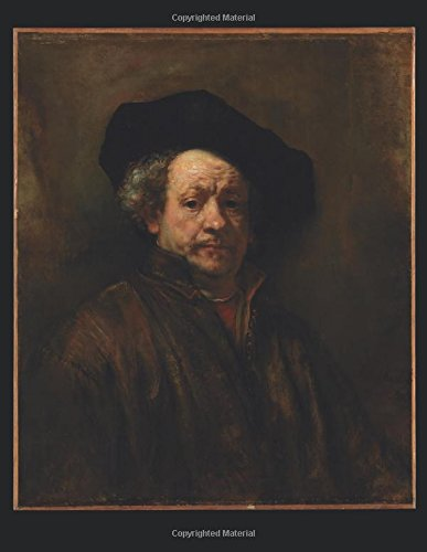 100 Page Unruled Blank Notebook - Self-Portrait - Rembrandt Van Rijn - 1660: 8.5