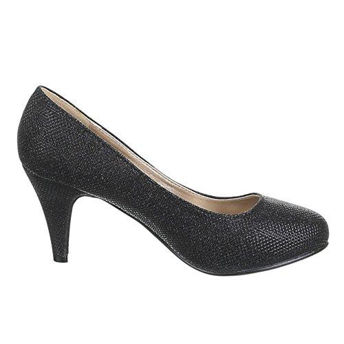 Chaussures pour femme - 2143–p, escarpins femme Noir - Noir
