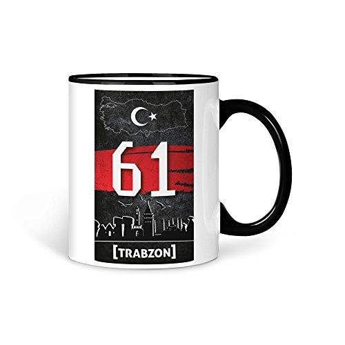 TASSE Kaffeetasse Türkei Trabzon 61 Türkiye Plaka V2