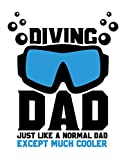 Ramini Brands Diving Dad Just Like A Normal Dad Except Much Cooler Wall Artwork - Home Decor for Mancaves and Offices - 11 x 14 Unframed Print - Great Gift for Scuba Gear Loving Fathers