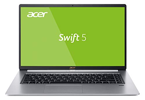 Acer Swift 5 SF515-51T-76B6 39,6 cm (15,6 Zoll Full-HD IPS Multi-Touch) Ultrabook (Intel Core i7-8565U, 16GB RAM, 512GB SSD, Intel UHD, Win 10) silber