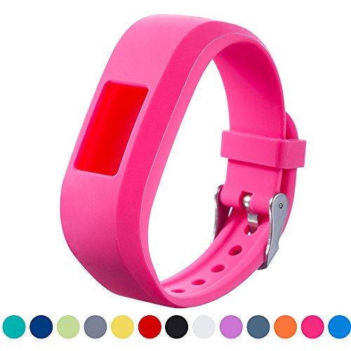 iFeeker Garmin Vivofit JR Ersatzband Zubehör Soft Silikon Metall Schließe Uhr Gürtelschnalle Armband Armband Armband Halter Tasche Tasche für Garmin Vivofit Jr.