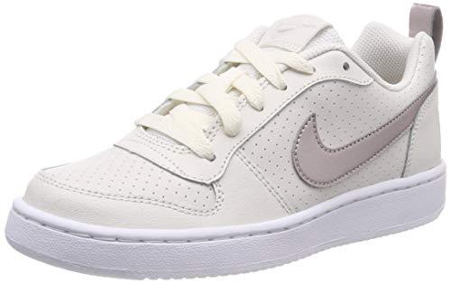 Nike Court Borough Low (GS), Chaussures de Basketball Fille, Blanc (Phantom/MTLC Red Bronze-White...