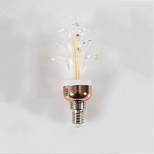 Preisvergleich Produktbild OOFAY Bulbs@ E27 Kerzenbirnen Ersetzt 50W Glühbirne 5W 360Lm Warmweiß 4000K LED Kristall Kerzenlampe Kronleuchter Kerzenleuchten Kerzenform (5Er-Pack) [Energieklasse A+],E14