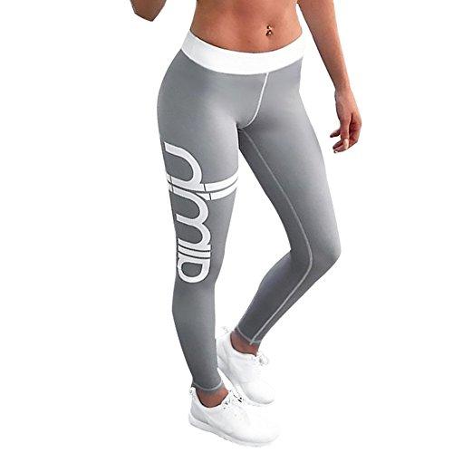 Morbuy Damen Leggings, Sport Gym Yoga Workout Pants Basic Fitness Hohe Taille Jogginghose Trainingshose Skinny Hosen Hose Sporthose (M, C)