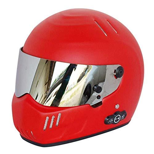 Preisvergleich Produktbild Motorrad-Bluetooth-Helm,  Flip-Doppelseitiger Full-Face-Helm,  Eingebautes Integriertes Intercom-Kommunikations System (500M-Bereich,  2-3Rider-Paarung,  FM-Radio,  Wasserdicht,  L (54-62Cm),  Sub-Rot)