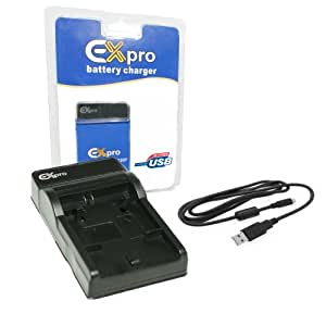 Ex-Pro Olympus Li-50B, Li50b LI50C EZi-Power USB Charger with USB Cable [See Description for Models]