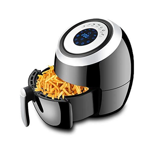 ROOKLY Friggitrice Elettrica Ad Aria Calda con Lavabili Carrello 3.6L 1300W / 220V Nero 7 in 1 One-Touch Hot Air Fryer per No-Olio per Friggere Preparazione del Cibo