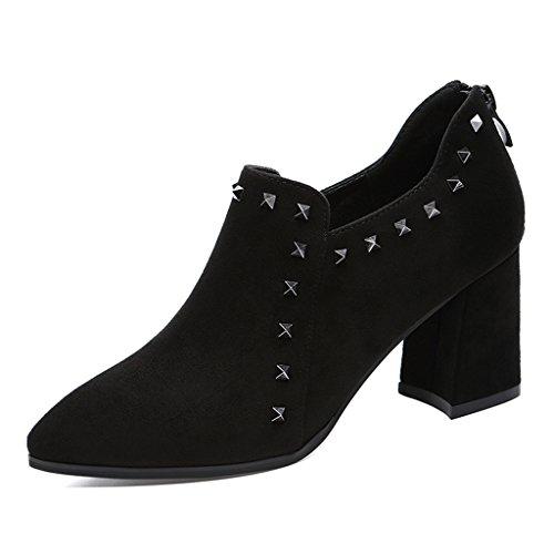 Chaussures femme HWF Chaussures à Talons Hauts Simples Femmes Chaussures Pointues Noires Femmes