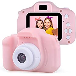 Juedy Kids Appareil Photo numérique pour Les Filles de 3-9 Ans, Jouet de caméra vidéo numérique pour Les 3-9 Ans garçons Cadeau d'anniversaire de Filles pour Les 3-9 Ans Filles Jouets