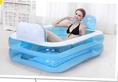 baño inflable espesar adulto bañera Foldable niño bañar bañera plástico bañera regalo bomba