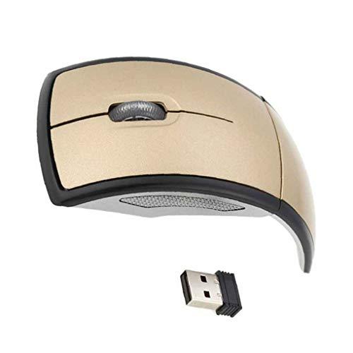 fish Arco 2.4G Que dobla el ratón inalámbrico USB de los Ratones receptores Plegables Juegos de Ordenador portátil de Accesorios