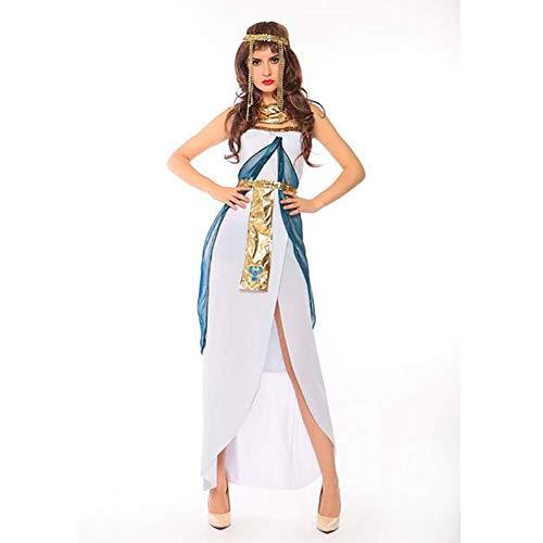 Damen Kleopatra Kostüm Kleider Königin Göttin Cosplay Halloween Weihnachten Kostüm Ethnische Kleidung,M (Farbe : Wie Gezeigt, Größe : ()