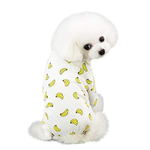 EUZeo Pet Frühling und Sommer Print Kleid Hund Katze Haustierbekleidung Kostüme Pet Kleidung Lässig Gedruckt Hundebekleidung Kleine Hundepullover Katze Kleidung T-Shirts (Rabatt Pet Kostüm)