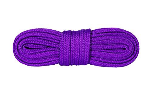 Kaps Sneakers Schnürsenkel, Hochwertige strapazierfähige Schnürsenkel für Freizeitschuhe, Hergestellt in Europa, 1 Paar, Viele Farben und Längen (140 cm - 8 to 10 Ösenpaar - Violet)