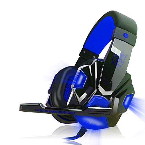 Stereo K8 Gaming Headset für PS4, Xbox One, Noise Cancelling Mikrofon Over Ears Gaming Kopfhörer mit Mikrofon für Playstation 4 Laptop Smartphones und PC Schwarz 4