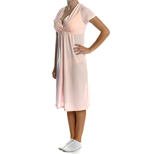 BEZLIT Damen Pyjama Schlafrock Nachthemd Schlafanzug 21386, Farbe:Orange;Größe:XL