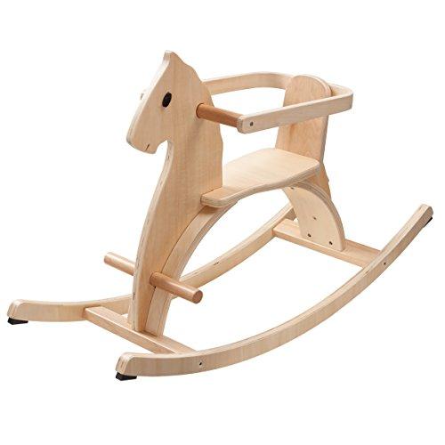 *howa Schaukelpferd aus Holz mit abnehmbaren Haltering natur lackiert 5594*