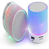 B To B Traders Rechargeable Bluetooth Speaker With LED Wireless Bluetooth Speaker With Handsfree Calling Feature, FM Radio & SD Card Slot - Assorted Color