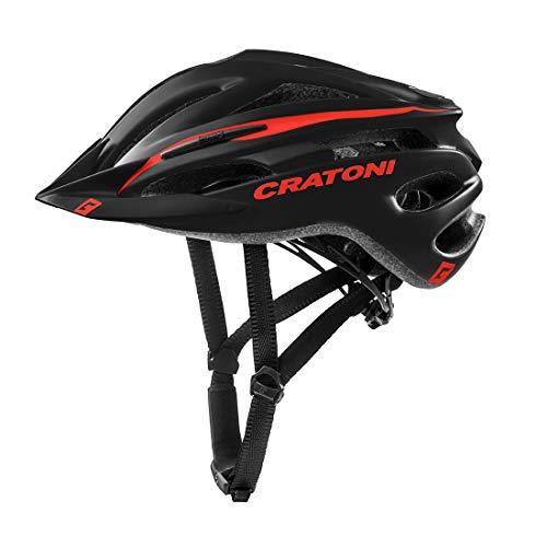 Fahrradhelm Cratoni Pacer, black matt - Visier weiß, Gr. L-XL (58-62 cm)