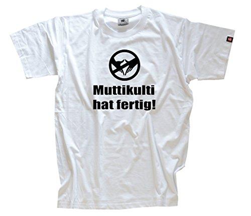 Muttikulti hat fertig T-Shirt Weiss XXXL