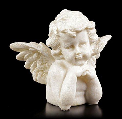 Ange Figurine – Petit Cherub beobachtet – Jardin Ange