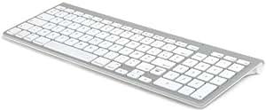 Avanca AVKB-T00 Clavier Bluetooth AZERTY pavé numérique Argent/Blanc