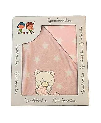 Sabanas invierno Coralina CUNA 60 x 120 cm (bajera+encimera+funda almohada) (Danielstore) Oferta Envío Gratis (Osito rosa)