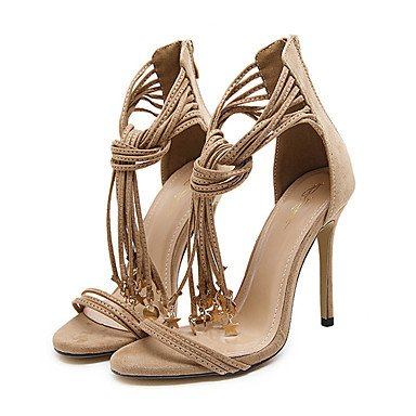 zhENfu Women's Heels Spring / Summer / Fall / Winter Gladiator / Comfort / Novelty Leatherette Wedding / Party & Evening / Dress / Casual Almond