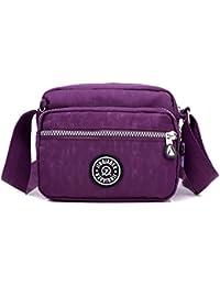 Outreo Bolsos de Mujer Bolso Bandolera Ligero Bolsas de Deporte Impermeable  Moda Bolsos Casual Pequeña para 80869f5aac7e7