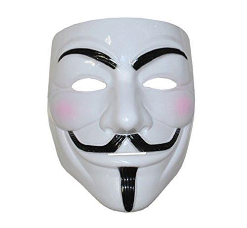V wie Vendetta Maske Anonimus leichtgewichtigem Kunststoff (V Funny Für Vendetta)