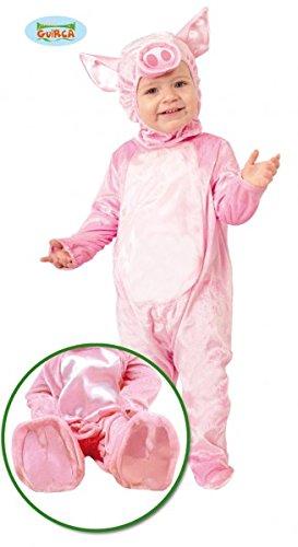 Baby Kostüm Ferkelchen Overall rosa Schwein Kinderfasching Schweinchen (80/86)