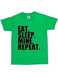 Fancy A Snuggle Eat Sleep Mine Repeat Gamer's Kids Boys / Girls T-Shirt
