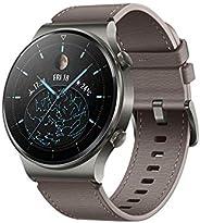 ساعة هواوي GT 2 برو الذكية، بشاشة لمس AMOLED HD مقاس 1.39 انش، وبطارية تعمل لمدة اسبوعين، مع تقنيات GPS وGLONA