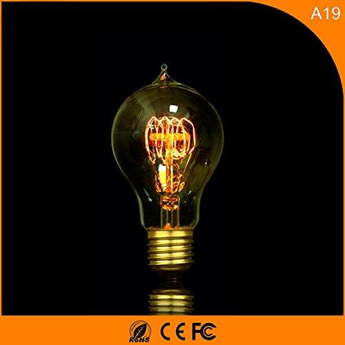 A19 dimmerabile, E27 retrò A60 palla bulbo di tungsteno lampadina