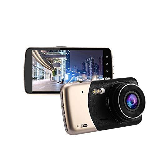 elecfan Dashcam Dual Autokamera HD 1080P, Front und Rück Nachtsicht G-Sensor Bewegungserkennung mit 170° Weitwinkel,Screen 4,0 Zoll Dash Cam für Fahrzeuge Parkmonitor