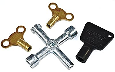 Bulk Hardware BH00936 Workshop Assortment of Radiator and Meter Utility Keys - Pack of 4 : everything 5 pounds (or less!)