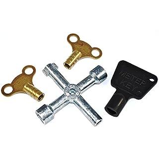 Bulk Hardware BH00936 Workshop Assortment of Radiator and Meter Utility Keys - Pack of 4