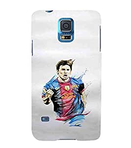 For Samsung Galaxy S5 footballar, white wallpaper, man, sports man, sports Designer Printed High Quality Smooth Matte Protective Mobile Pouch Back Case Cover by BUZZWORLD