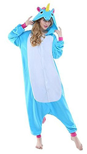 Auspicious beginning Erwachsene Bequeme Einhorn Nachtwäsche Tier Pyjamas Halloween (Größe Woman Wonder Kostüme Plus)