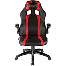 Mars Gaming MGC2 - Silla Gaming profesional (inclinación, altura y apoyabrazos regulables, ergonómica, acolchada y cómoda, ruedas), rojo