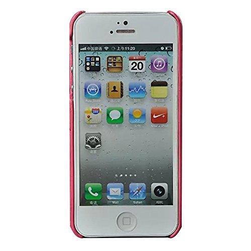 Cuir etui coque housse - TOOGOO(R)iPhone 5s Cuir etui coque housse avec porte-cartes marron elegant snap on Pour protection apple iphone 5 iphone 5S case pochette rose
