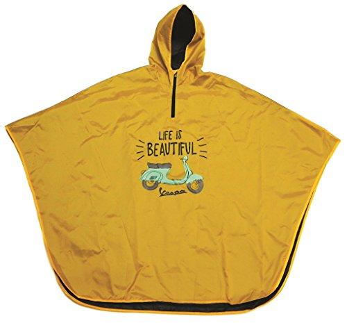 """Preisvergleich Produktbild Regenponcho FORME """"Life is beautiful"""", gelb, Unisex, Größe: one size, 100% Polyamid"""