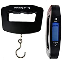 Caxmtu Portable LCD Digital Fish Hanging Luggage Weight Electronic Hook Scale 50kg/10g