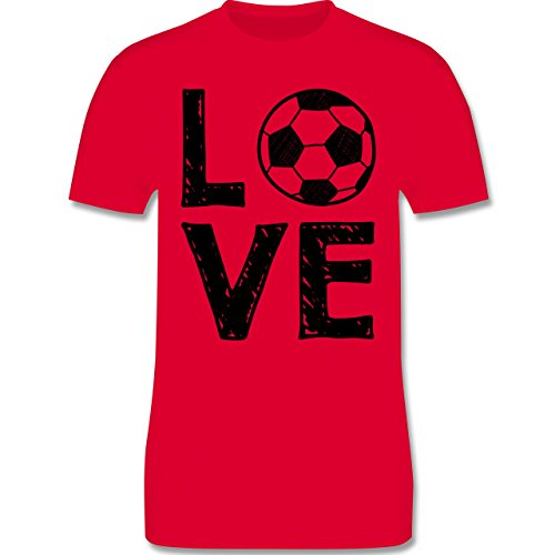 Fußball - Love Fußball - Herren Premium T-Shirt Rot