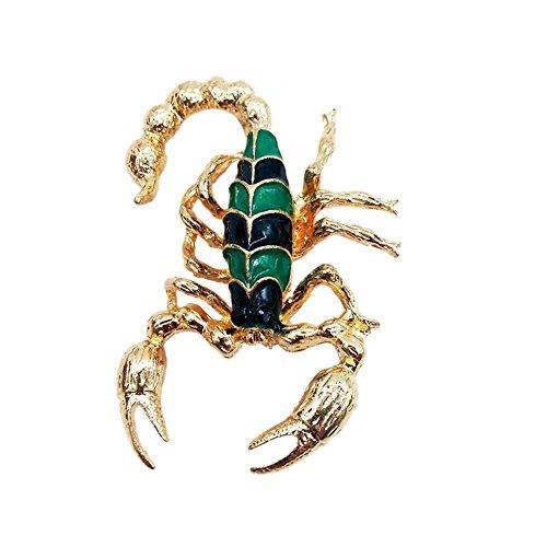 (JUNERAIN Halloween Zubehör europäischen personalisierte Tier Skorpion Brosche)