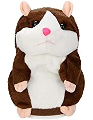 Fhikf Adorable Intéressant Speak Talking enregistrer Hamster souris en peluche Jouets pour enfants, jouets Taliking