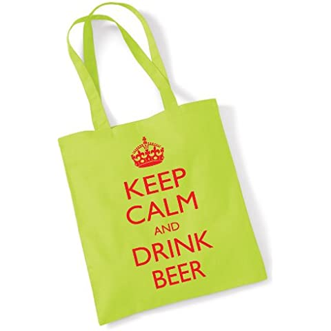 "PER VITA, CON STAMPA ""KEEP CALM AND DRINK BEER"