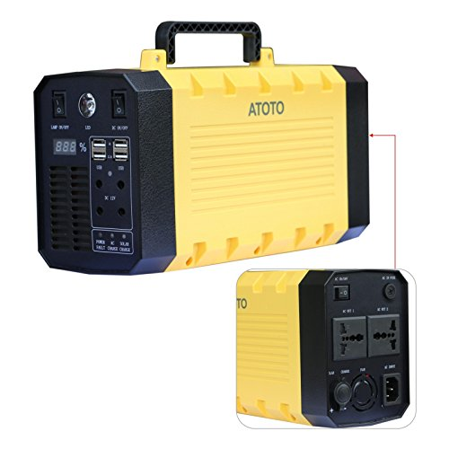 ATOTO Alimentazione Ultra Backup (Litio) -Mini Uninterruptible Power Supply / UPS - Banca portatile di potere della batteria (versione aggiornata) - Charge Smartphone -laptop, PC, Elettrodomestici -230V AC Uscita