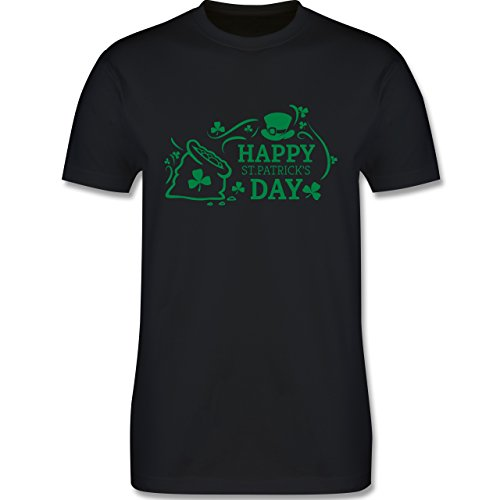 Festival - Happy St. Patricks Day Badge - Herren Premium T-Shirt Schwarz